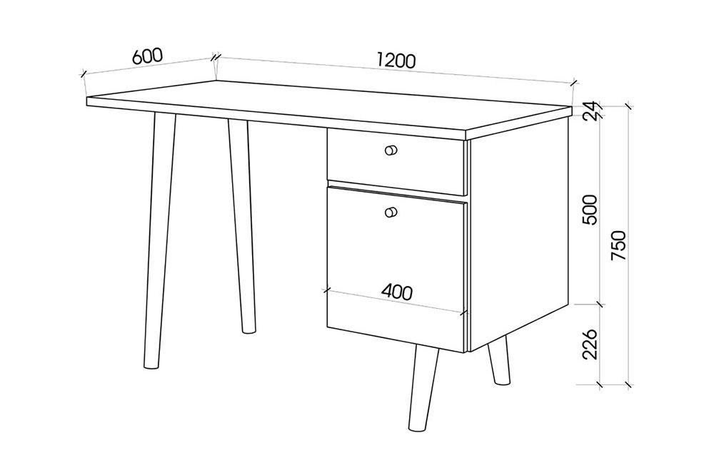 kích thước bàn làm việc hiện đại