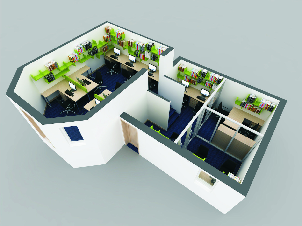 thiết kế văn phòng mở 1