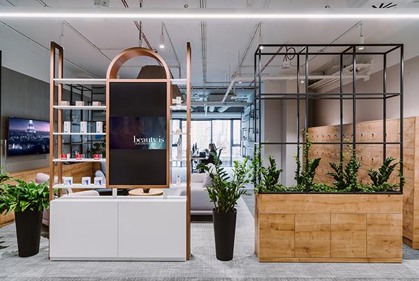thiết kế văn phòng không gian mở loreal